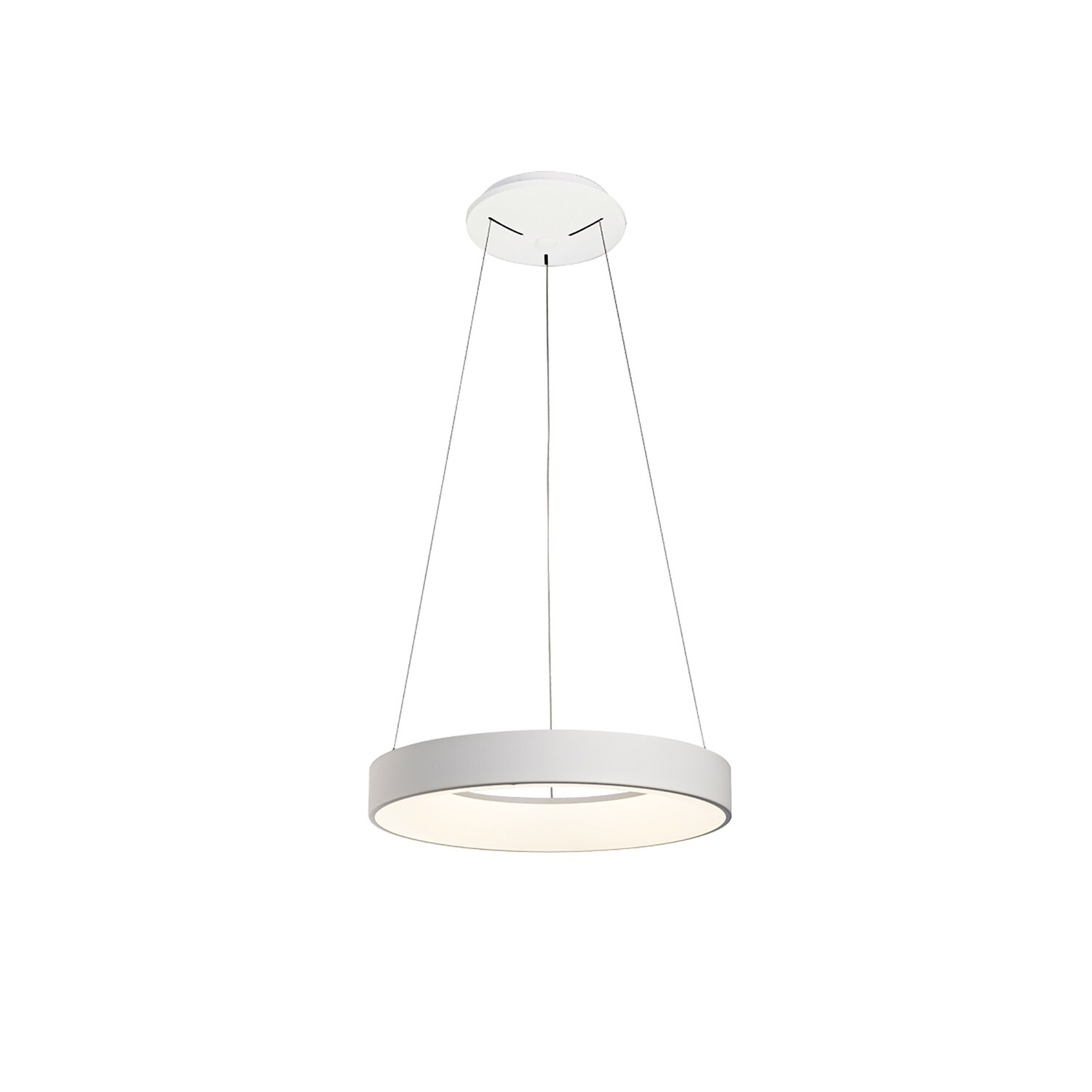 Niseko Dimmable Ring Pendant 45cm Round 30W LED 3000K, 2100lm, White