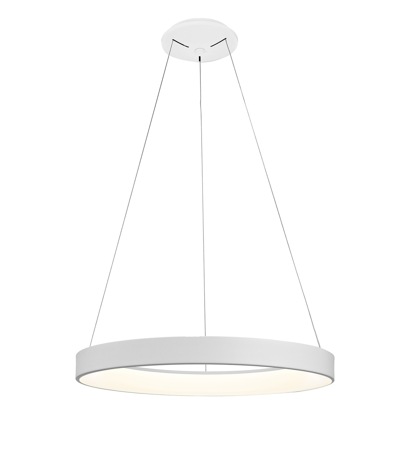 Niseko Dimmable RIng Pendant 65cm Round 50W LED 3000K, 3500lm, White