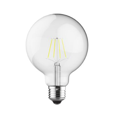 E27-LED filament Globe D95 6.5W 4000K (natural white) 806lm clear DIMMABLE
