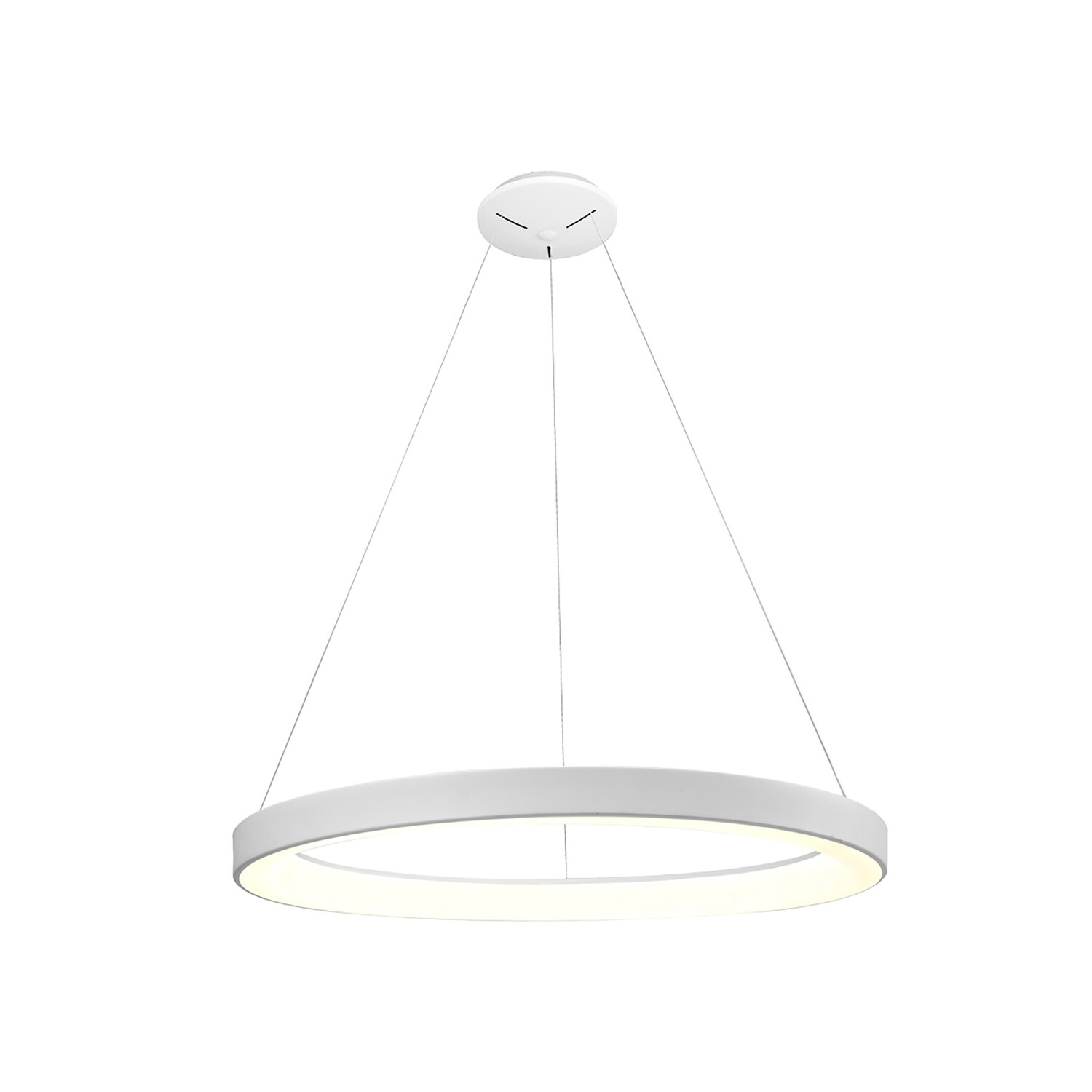 Niseko Dimmable RIng Pendant 90cm Round 60W LED 3000K, 3500lm, White