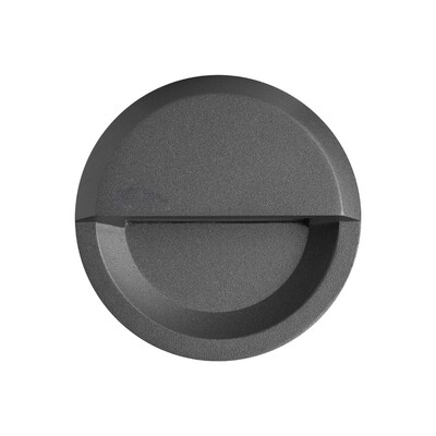 ALCOR round Wall-mounted luminaire 3W 250lm Grafite