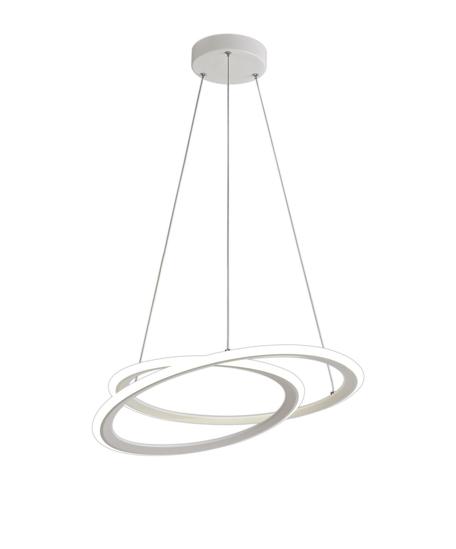 Orison Pendant, 1 x 40W LED, 4000K, 2996lm, 3 Step Dimming, Matt White