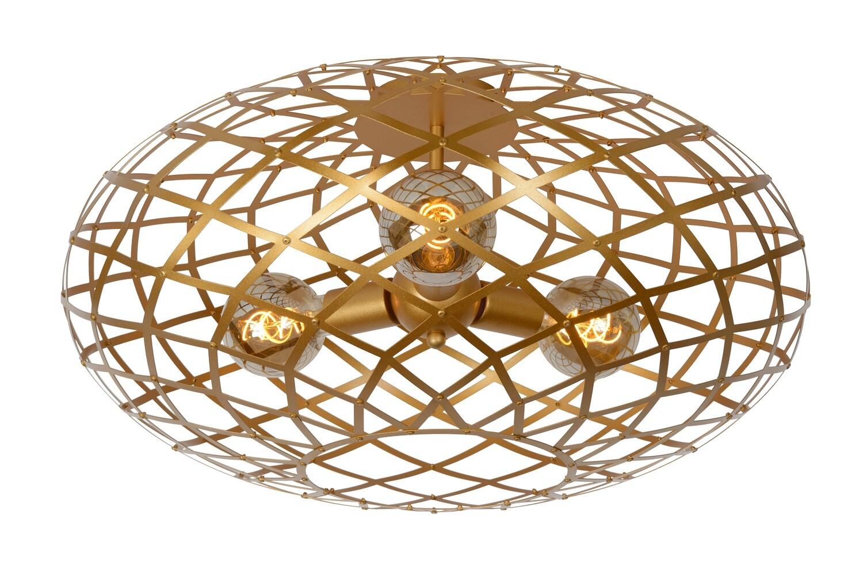 WOLFRAM  Flush ceiling light Ø 65 cm 3xE27 Matt Gold / Brass