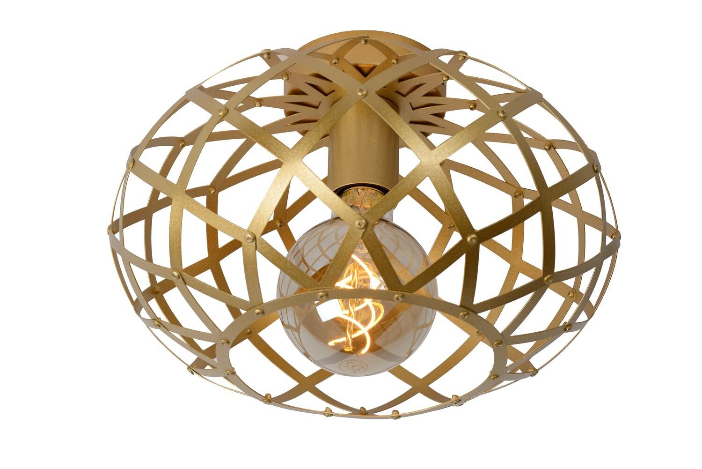 WOLFRAM - Flush ceiling light Ø 30 cm 1xE27 Matt Gold / Brass