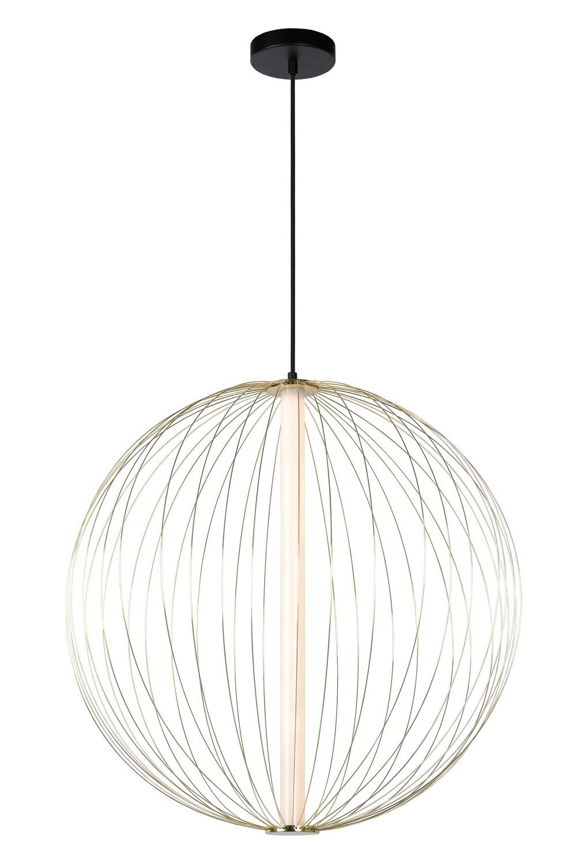 CARBONY Pendant light Ø 60 cm LED Dimmable 1x10W 2700K  Matt Gold / Brass