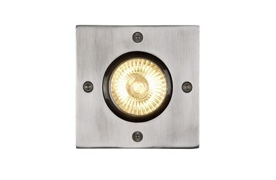 BILTIN Deck light Outdoor 1xGU10 IP67 Satin Chrome