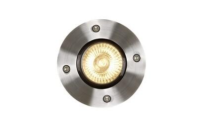 BILTIN Deck light Outdoor Ø 10,8 cm 1xGU10 IP67 Satin Chrome
