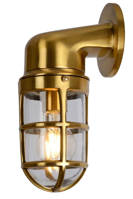 DUDLEY Wall light Outdoor 1xE27 IP65 Matt Gold / Brass