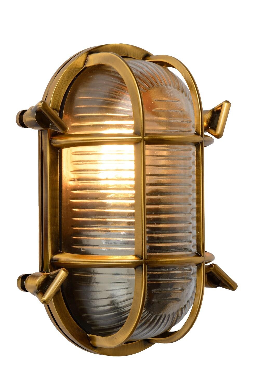 DUDLEY  Wall light Outdoor oval 1xE27 IP65 Matt Gold / Brass