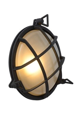 DUDLEY Wall light Outdoor round 1xE27 IP65 Black