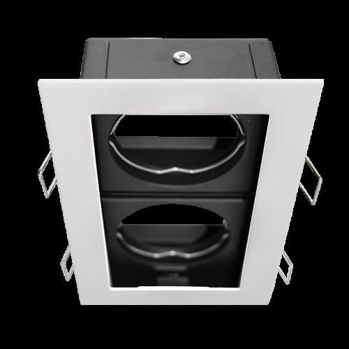 MINI CARDAN orientable for 2xGU10 light-source