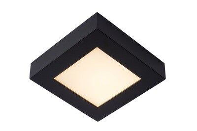 BRICE-LED Ceiling L Dimmable 15W 3000K Square IP44 Black