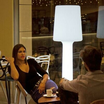 CARMEN 165 cabled or rechargeable portable Outdoor Floor lamp IP65