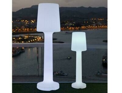 CARMEN 110 cabled or rechargeable portable Outdoor Floor lamp IP65