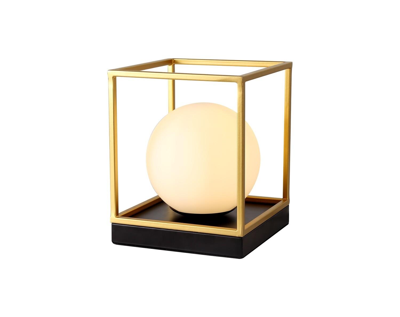 Citanti Table Lamp, 1 Light E14, Matt Black/Painted Gold