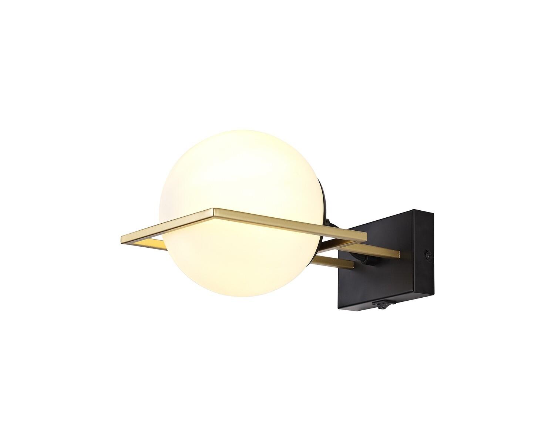 Citanti Wall Lamp Switched, 1 Light E14, Matt Black/Polished Gold