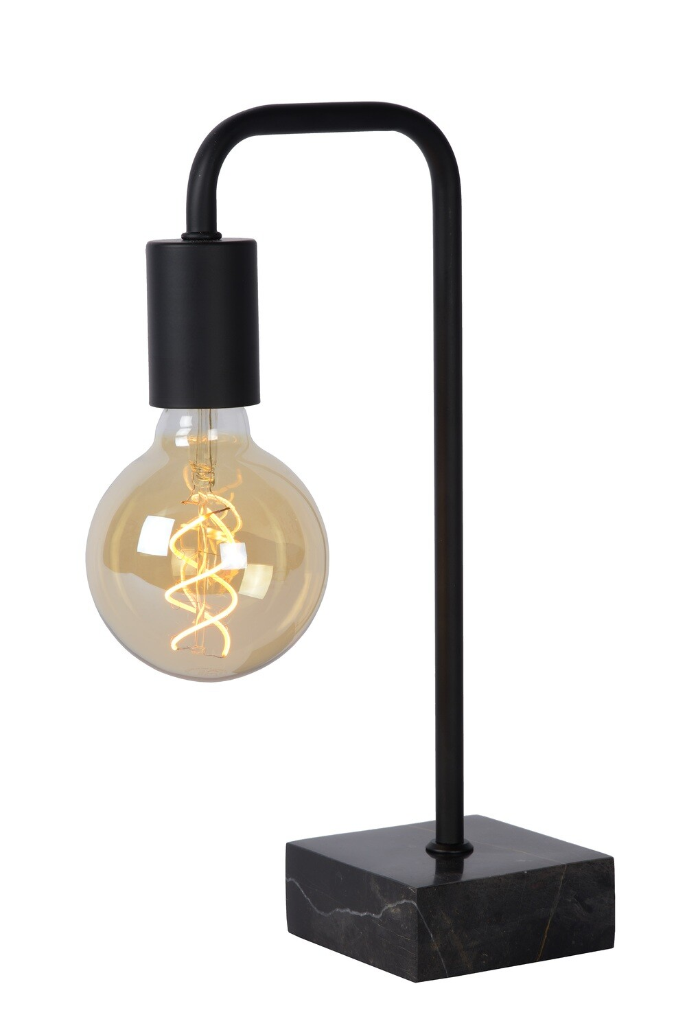 LORIN Table lamp Black complete with LED Filament bulb Ø 9,5 cm LED  1x5W 2200K Amber