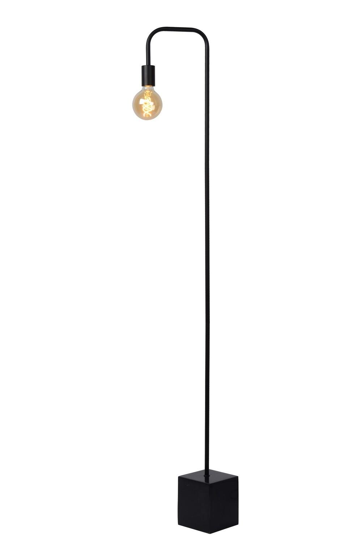 LORIN Floor lamp Black complete with LED Filament bulb Ø 9,5 cm LED  1x5W 2200K Amber