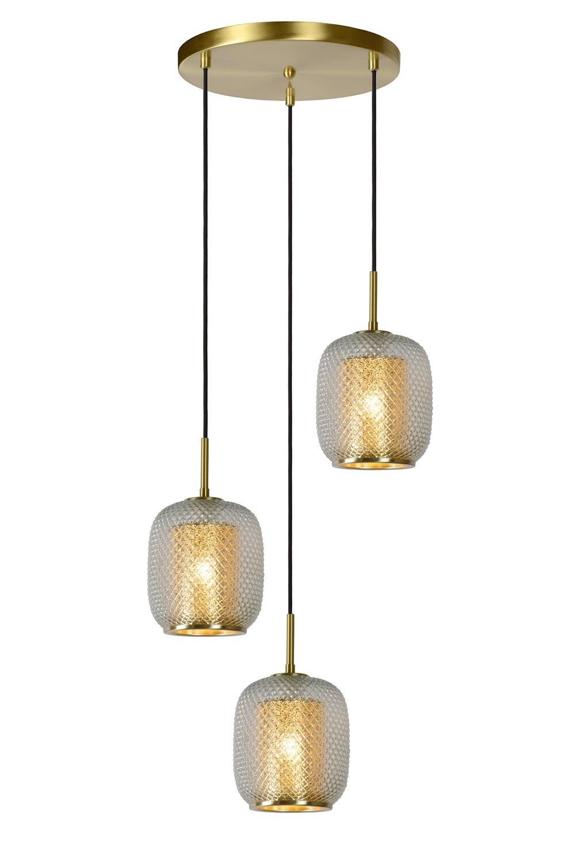 AGATHA Pendant light Ø 35 cm 3xE27 Matt Gold / Brass