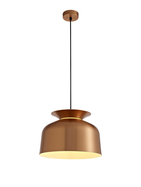 Tilda Single Pendant, 1 Light Adjustable E27, Copper