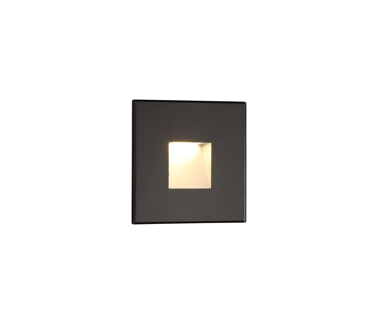 Slava Recessed Square Wall Lamp, 1 x 1.8W LED, 3000K, 70lm, IP65, Black