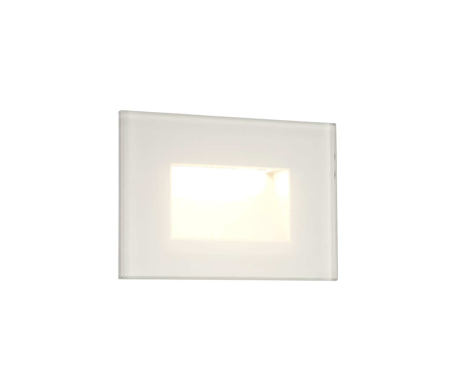 Slava Recessed Square Wall Lamp, 1 x 3.3 W LED, 3000K, 145lm, IP65, White