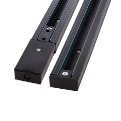 Bi-phase track rail (phase, neutral and earth)  for IGLUX  Mono-phase Track- Spots BLACK