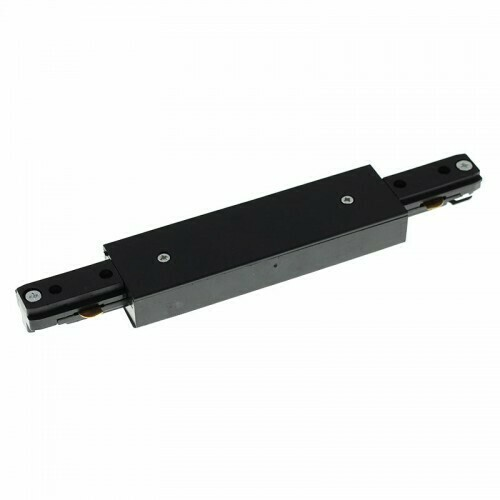 Straight connector for IGLUX Bi-phase track series BLACK