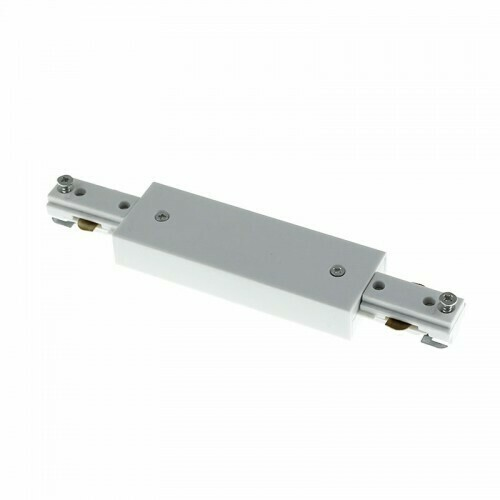 Straight connector for IGLUX Bi-phase track series WHITE