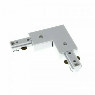 L connector for IGLUX Bi-phase track series WHITE