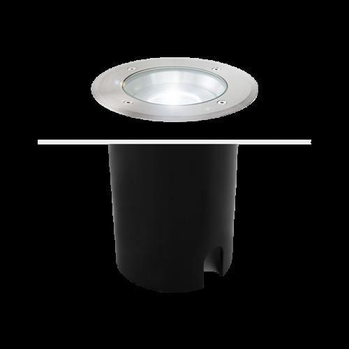 ATICA round inground recessed 1xGU10 IP67 stainless steel