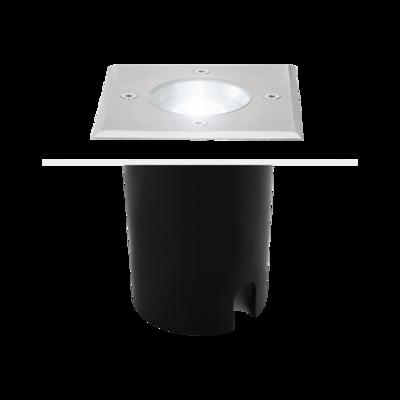ATICA square inground recessed 1xGU10 IP67 stainless steel
