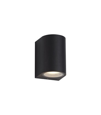 ZARO Curved Wall Lamp, 1 x GU10, IP54, Sand Black