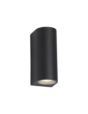 ZARO Curved Wall Lamp, 2 x GU10, IP54,Sand Black
