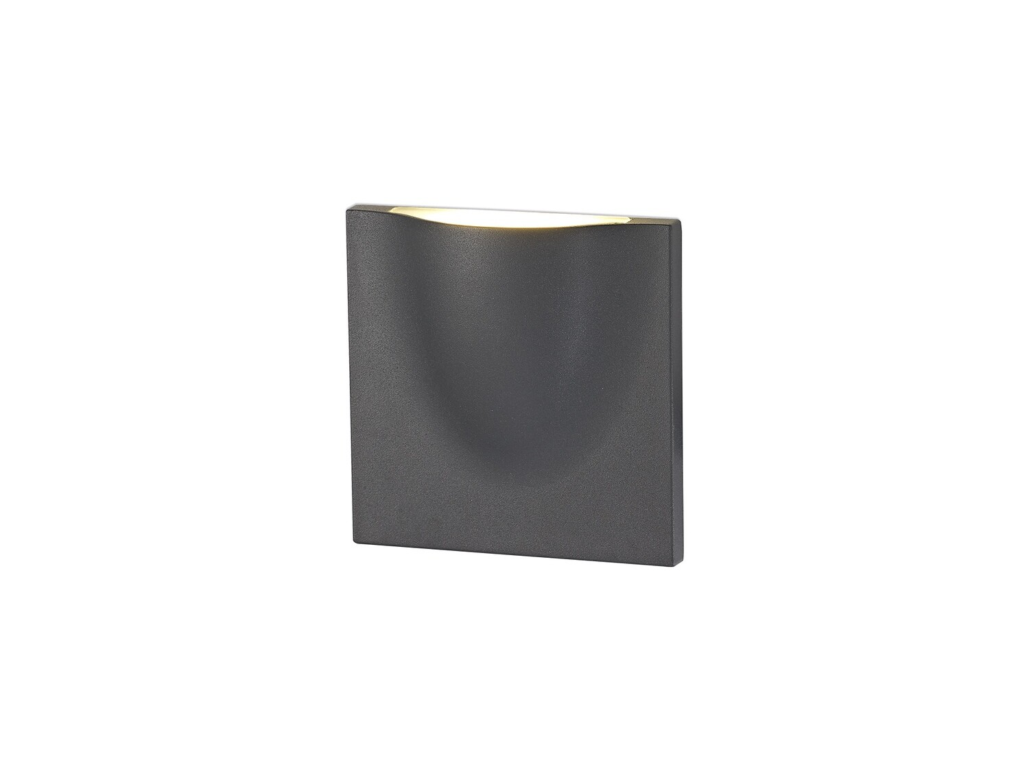 Alioth Wall Lamp, 1 x 6W LED, 3000K, 510lm, IP54, Anthracite