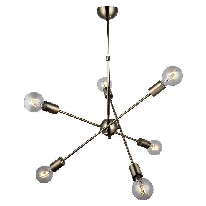 Fana Ceiling Luminaire 6xE27 Antique Brass