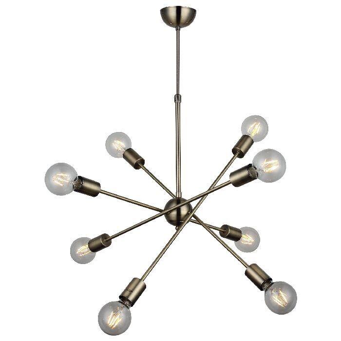 Fana Ceiling Luminaire 8xE27 Antique Brass