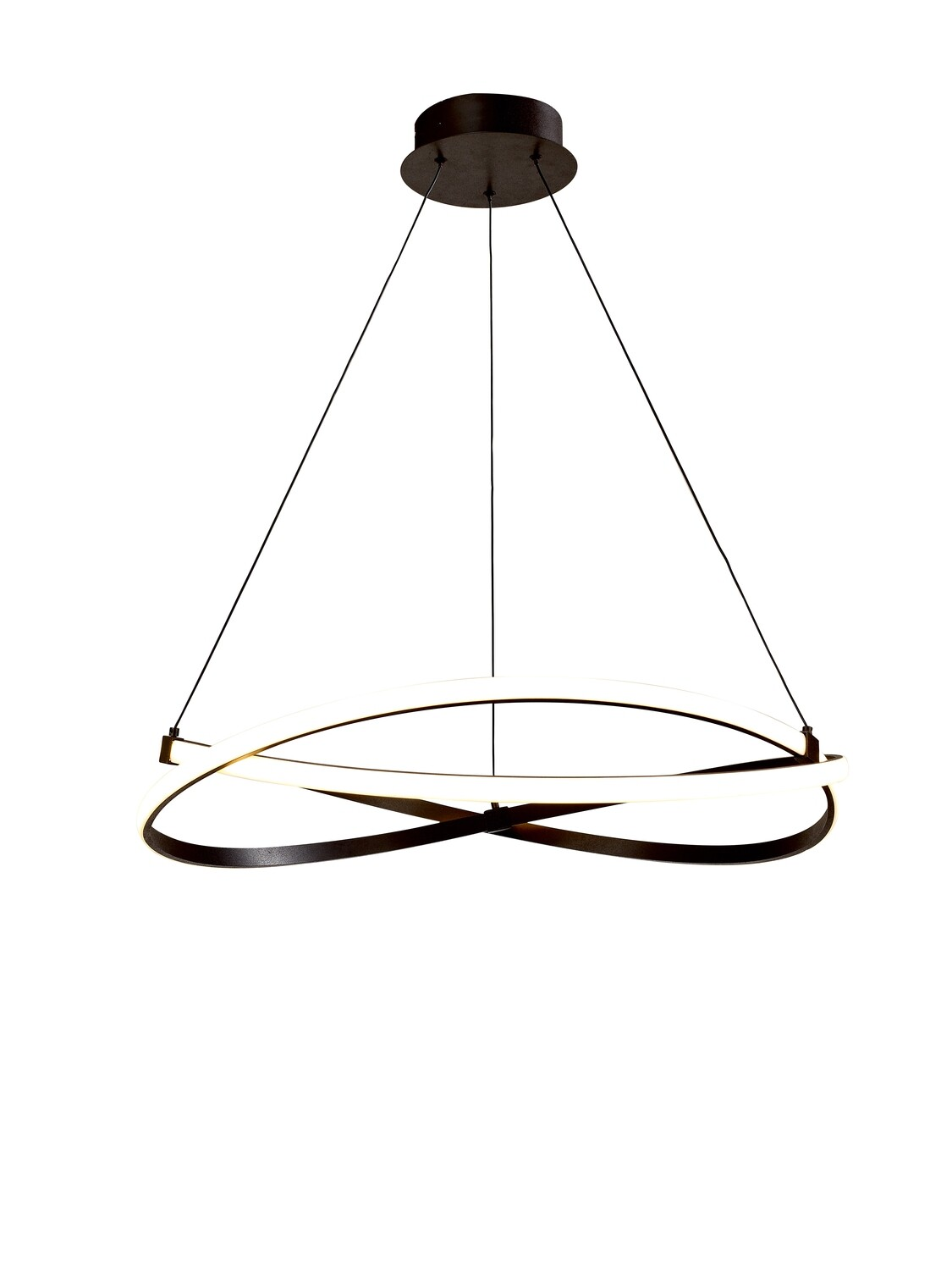 Infinity Pendant 60W LED 2800K, 4500lm, Brown Oxide/White Acrylic,