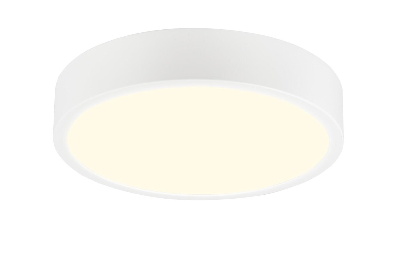 Saona 30cm Round LED Surface Flush Fitting 30W 2550lm Matt White/Frosted Acrylic