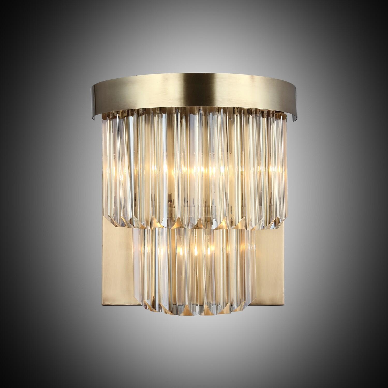GENNARO 3 LIGHT WALL LAMP ANTIQUE BRASS 3xE14
