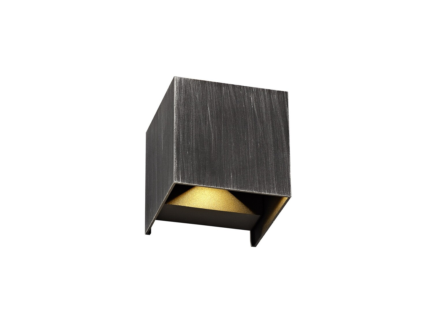 Boketto Up & Downward Lighting Wall Lamp 2 x 3W LED, 3000K 400lm IP54 Black/Silver