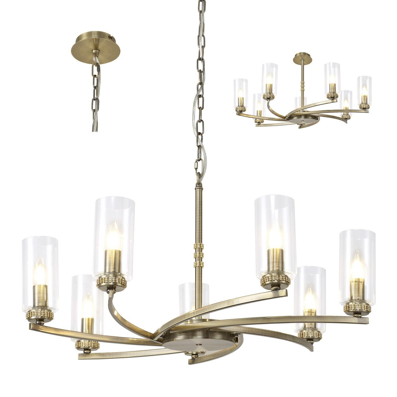 Langara Pendant/Semi Ceiling 7xE14 Antique Brass