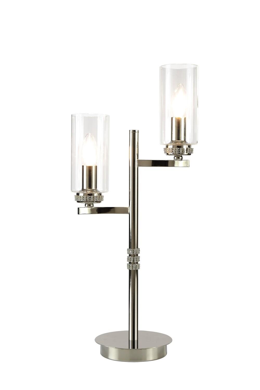 Langara Table Lamp 2xE14 Polished Nickel