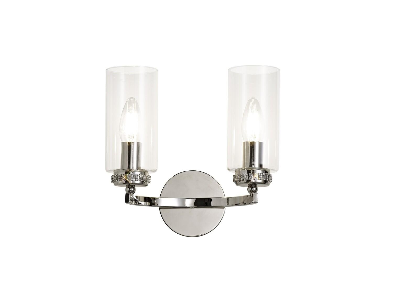 Langara Wall Lamp Switched 2xE14 Polished Nickel