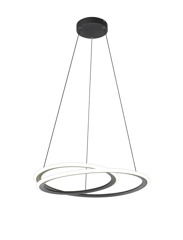 Orison Pendant, 1 x 40W LED, 4000K, 2996lm, 3 Step Dimming, Black