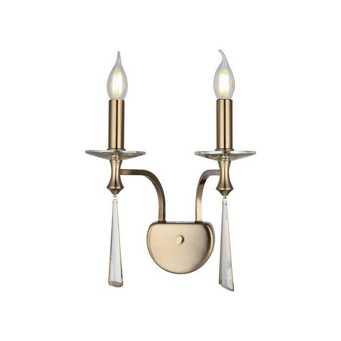 ALFREDO WALL-LAMP ANTIQUE BRASS 2xE14