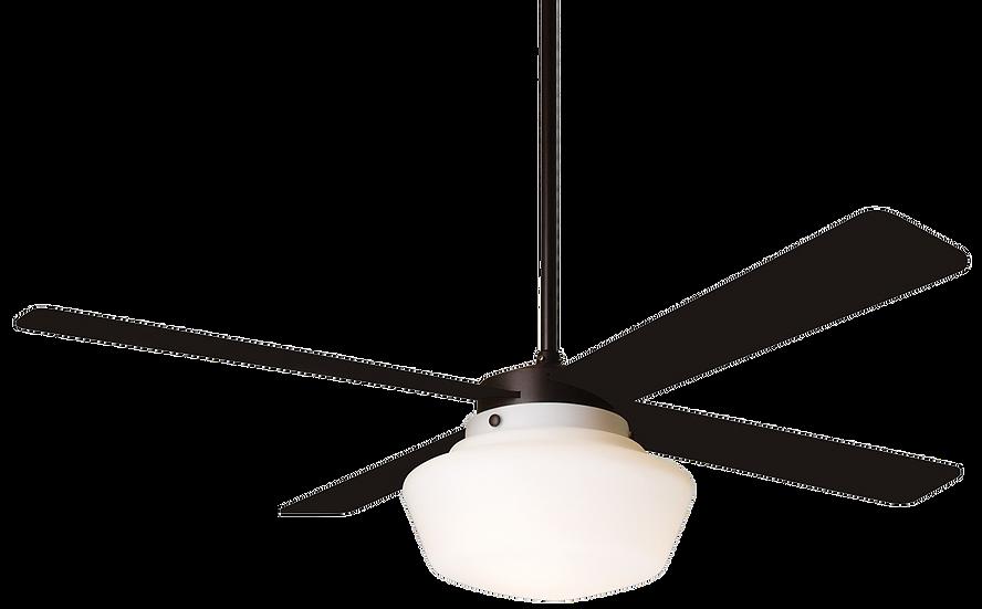 SCHOOLHOUSE Ø132 Design ceiling fan dark bronze/black with light