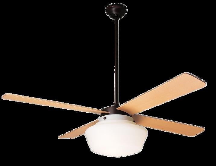 SCHOOLHOUSE Ø105 Design ceiling fan dark bronze/maple with light
