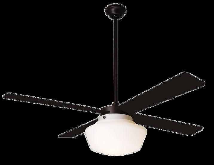 SCHOOLHOUSE Ø105 Design ceiling fan dark bronze/black with light