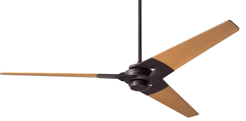 TORSION Ø132 or 157 Design ceiling fan dark bronze/maple